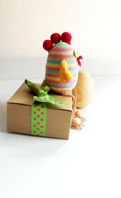 Toy for Baby - Toddler Wood Sensory Toy - Chick Egg - Yellow, Pink, Green, Blue, Red - Shower Gift for Baby #Easter #Day #party #decor #craft # ideas www.loveitsomuch.com