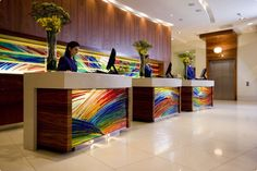 Reception #kiev #stagdo Lobby Reception, Hotels, Blue