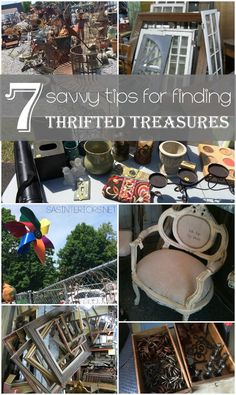 7 Savvy Tips for Finding Thrifted Treasures - Tips + Tricks + Ideas for finding the perfect 'something'... Some of these simple ideas you may never thought of.