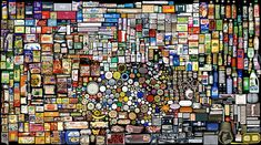 My Things, Booking Keeping of (2007-08) by Hong Hao Mosaic Art, Mosaic Glass, Pebble Mosaic, Stained Glass, Things Organized Neatly, Chinese Contemporary Art, Collections Of Objects, Found Object Art, Find Objects
