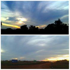 Sunset 12.04.15 17.25 pm Rio Brilhante MS #Brazil