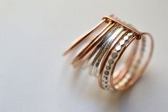Druif X. GF. 14 k Rose Gold Filled en zilveren ringen