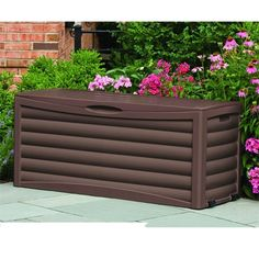 Need a storage solution that can move around your yard? This Deck Box with 103 gal. Equipped with wheels and built-in handles for hassle-free portability, the unit is designed to go where you go and fits items large and sm Patio Cushion Storage, Patio Storage, Outside Storage, Patio Cushions, Deck Box, Garden Supplies, Storage Solutions, Decks, Home Improvement