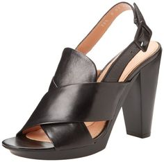 Robert Clergerie Women's Xali Platform Sandal,Black/Black,39.5 EU/9 B US >>> Be sure to check out this awesome product.