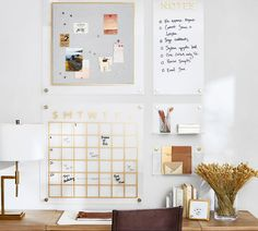 Office Wall Organization, Office Wall Decor, Office Walls, Office Nook, Office Storage, Home Office Furniture Design, Entryway Furniture, Hanging Wall Organizer, Modular Walls