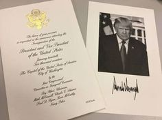 Donald Trump inaugural day invitation