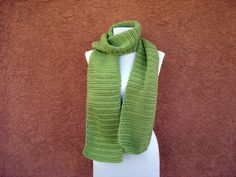 Scarf - Pistachio Green Scarf for Women or Men - Unisex Adults - Men or Women - Crochet Scarf - Crocheted Scarves - Long Soft Warm Scarf by HoookedHandmade