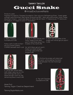 Tammy Taylor Gucci Snake @missExclusiveNails