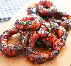 Sriracha Bacon Wrapped Onion Rings   Kirbie's Cravings   A San Diego food blog
