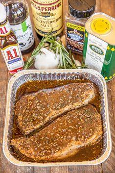 Strip Steak Marinade, A1 Steak Sauce, Ny Steak, Steak Marinade Recipes, Marinated Steak, Beef Recipes, Cooking Recipes, Steak Marinades, Marinade Sauce