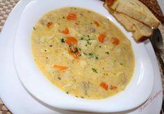 Nyam nyam karfiolos csibes tarkonyos raguleves :) Hungarian Recipes, Cheeseburger Chowder, Hummus, Food Porn, Cooking, Ethnic Recipes, Soups, Kitchens, Meat