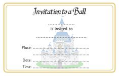 An invitation for a Cinderella Ball. Ideal to use as part of a Cinderella activity or game in your school or early years setting. Cinderella Invitations, Royal Wedding Invitation, Wedding Invitation Templates, Traditional Tales, Traditional Stories, Eyfs Activities, Literacy Games, Learning Resources, Teacher Resources
