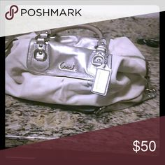 Coach bag White bag but has stains on the inside Coach Bags Satchels