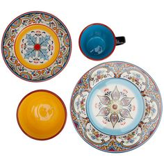With vibrant medallion designs this exotic earthenware dinner set brings faraway flair to your tablescape or china cabinet. | Pinterest | Dinnerware ...  sc 1 st  Pinterest & With vibrant medallion designs this exotic earthenware dinner set ...