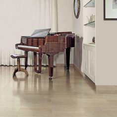 "Travertini 12"" x 24"" Porcelain Wood Look/Field Tile in Matte Cream"