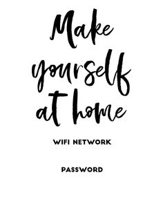 17 Free Printable Wifi Password Signs + Editable PDF to print at home and add to your guest room. 17 editable wifi signs to choose from. Free Wifi Password, Wifi Password Printable, Home Command Center, Ocean Quotes, Beach Quotes, Free Printable, Crush Quotes, Quotes Quotes, Printables
