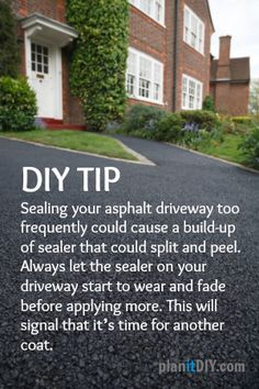 Driveway sealer use a scraper with a flat blade to scrape the diy tip to ensure that you arent resealing your asphalt driveway too frequently solutioingenieria Choice Image