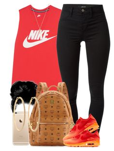 """""""Blazing Hot. """" by livelifefreelyy ❤ liked on Polyvore featuring NIKE, J Brand, MCM, Gucci and Roberta Chiarella"""