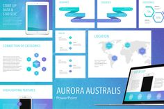 Aurora Australis PowerPoint Template by Jumsoft on Envato Elements