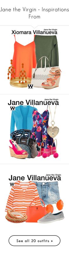 """""""Jane the Virgin - Inspirations From"""" by wearwhatyouwatch ❤ liked on Polyvore featuring River Island, Bold Elements, Ralph Lauren, Joe's Jeans, Kenneth Jay Lane, women's clothing, women's fashion, women, female and woman"""