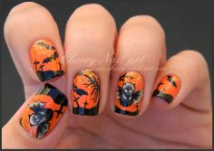 CHERRY NAIL ART halloween  #nail #nails #nailart