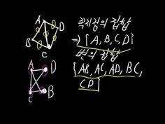 [청심OCW] 고교 수학- 7. 그래프.  본 강의에서는 그래프에 대해 알아보도록 하겠습니다. 그래프는 꼭지점과 변으로 이루어져 있으며, 꼭지점의 집합과 변의 집합이 같으면 두 그래프는 같은 그래프 입니다.  다음 시간에 진행 될 '그래프와 행렬' 수업을 위해 본 강의에서 소개된 개념을 잘 익혀 두시면 좋겠습니다.