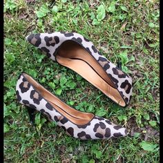 Coach cheetah kitten heel Good used condition wear on heels and toes see pic. Coach Shoes Heels