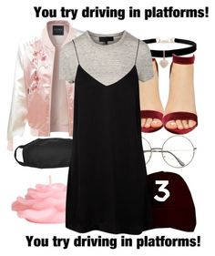 """""""Once again, BORED!!!"""" by loveydoveyprincess ❤ liked on Polyvore featuring LE3NO, H&M and Betsey Johnson"""