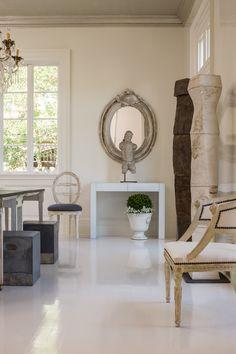 High gloss floors---so chic! Tara Shaw Maison.
