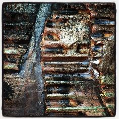 """""""Inspired by #anselmkiefer #creativejumpstart2016 @natkalbach with corrugated cardboard and paints"""""""