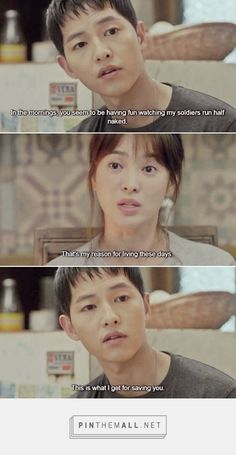 My addiction to this show is real. Seriously, I marathoned this drama so quickly, and then suffered from the empty feeling afterwards. Korean Drama Funny, Korean Drama Best, Korean Drama Quotes, Decendants Of The Sun, Les Descendants, Song Joon Ki, Songsong Couple, Drama Fever, W Two Worlds