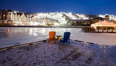 it's Ontario's biggest ski area and a great way to pass the cold winter months! Online Travel, Travel Articles, Blue Mountain, Winter Months, Business Travel, Ontario, Travel Guide, Skiing, Dreaming Of You