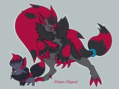 I wanted to do Zoroark since I originally did Zorua. I was wondering what the evolved versions of the designs I came up with would look like, so here we are. All Pokemon Games, Pokemon Alola, Play Pokemon, Cool Pokemon, Pokemon Fusion, Pokemon Stuff, Pokemon Breeds, Fantasy Drawings, Character Design Animation