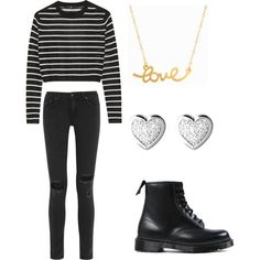 EXO - Love Me Right (Lay inspired outfit) by lucky-unicorn on Polyvore featuring polyvore fashion style TIBI rag & bone Dr. Martens Minnie Grace Links of London