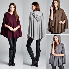 T16468 Loose fit round neck circle poncho top with hoodie. Side slits for arm opening. Has center back seam. This poncho top is made with medium weight brushed two-toned ribbed knit jersey that has a very soft fuzzy texture drapes well and is very warm. This fabric has good stretch.  #cherishusa #cherishapparel #shopcherish #fallfashion #fashionbuyer #boutique #fashion #fashiondiaries #instafashion #instastyle #fashionstyle #ootd #fashionable #fashiongram #fallstyle #clothingbrand #fall2015…
