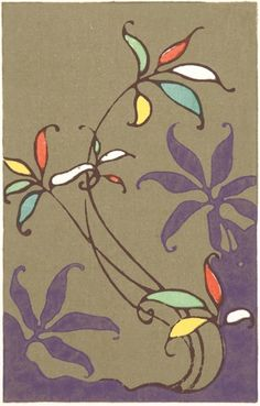 Fabulous original 20th century Japanese woodblock print by Furuya Korin. £45.