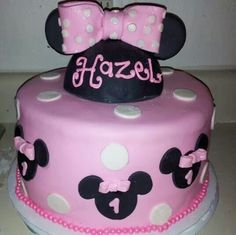 Minnie Mouse Theme Cake for Beautiful 1yr old Hazel..all homemade, made from scratch..ELA CAKE BOSS!!