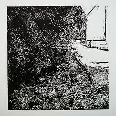 Vajanského 149-4 [printmaking, cutting into MDF] #printmaking #woodcut #bunker #art