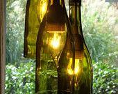 Glow 828 recycled wine bottle chandeliers