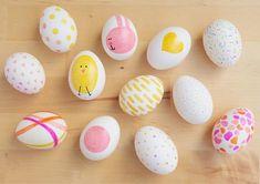 Bonita decoración de huevos de Pascua