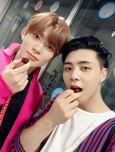 """Jaehyun (재현) and Johnny (쟈니) from NCT 127 (엔시티 127) during their """"Cherry Bomb"""" Comeback"""