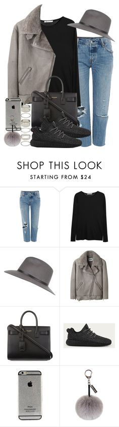 """Sin título #3646"" by hellomissapple ❤ liked on Polyvore featuring Levi's, T By Alexander Wang, River Island, Acne Studios, Yves Saint Laurent, adidas, Helen Moore and Forever 21"