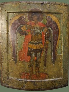"Vintage Icon ""Archangel Michael"" The middle - the third quarter of the XVI century, Byzantine Icons, Byzantine Art, 12 Tribes Of Israel, Angel Images, Best Icons, Archangel Michael, Orthodox Icons, Sacred Art, St Michael"