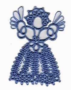 """Martha's Tatting Blog: Victoria by Monica Hahn, a Rediscovered Angel ... from Book 5 of the Ribbonwinners Series """"Tatting with Friends"""" ed & pub by Georgia Seitz 1998"""