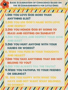 First Confession Prep: Examination of Conscience {Free Printable}
