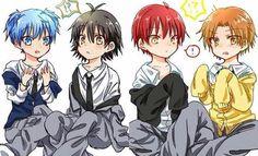 OMG JUST FRIGGIN LOOK AT DEM THEY R SO FUKIN CUTE   anime-:ansatsu kyoushitsu