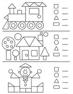 Preschool Shapes Worksheets for January. Kindergarten Worksheets, Worksheets For Kids, Math Activities, Preschool Activities, Preschool Shapes, Preschool Writing, Teaching Shapes, Teaching Kids, Kids Learning