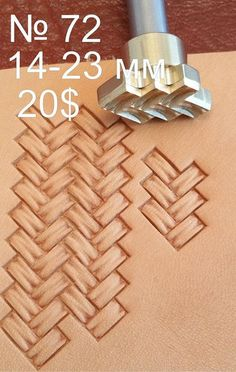 Tools for leather crafts. Stamp 72