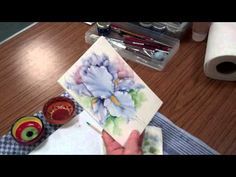 ▶ Iris Porcelain Painting - Stage 12 (First Fire) by Chris Ryder, Bala - YouTube