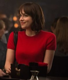 """Copy Dakota Johnson's Red Sweater And Gingham Skirt From """"How To Be Single"""""""